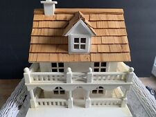 Nice Colonial Bird House- room for a large family! Nice wooden roof! Well Made