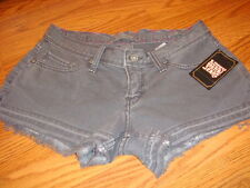NWT LUCKY SHORTS Low-Rise Slim Fit GREY GRAY $59 SIZE 0/25 HOT SEXY !!