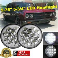 "Pair 5.75"" 5-3/4"" Inch LED Headlight Hi-Lo Beam Daytime Running Light H4 Bright"
