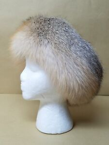 NEW REAL GOLD ISLAND  FOX FUR  HEADBAND MADE IN USA ONE SIZE