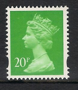 GB 1996 sg Y1685 20p Bright Green photogravure 1 centre band MNH ex Y1680