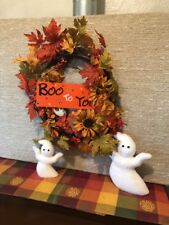 Fall Halloween Vintage Decor Wreath 4 Pc Set Home Interiors & Gifts New # 72