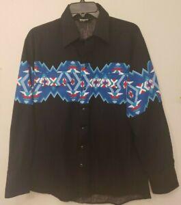 Brooks and Dunn Panhandle Slim Men's Western Snap Shirt Large Retro Ribbon