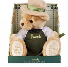 HARRODS 'GROCER' ANNUAL BEAR 2019 WITH FREE LGE CARRIER BAG BNWT