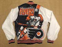 Vintage NHL Philadelphia Flyers 90s Mens Chalk Line Fanimation Jacket Small Rare