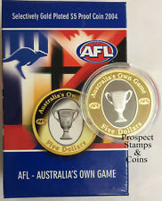 2004 AFL Selectively Gold Plated Five Dollar ($5) Proof Coin