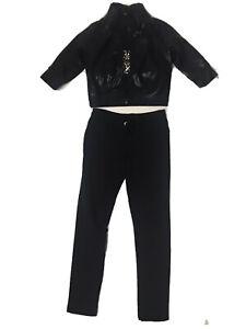 3 Piece Hip Hop Dance Costume Black Jacket, Top & Pants LC