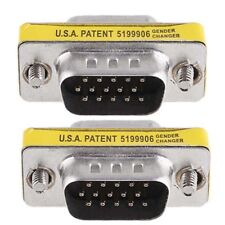 New 15 Pin HD SVGA VGA Male To Male gender Changer Adapter M/M