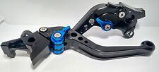 Suzuki TL1000R 1998-2003 Adjustable Black Levers Blue Adjusters (Shorty)