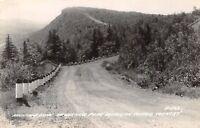Copper Harbor Michigan~Brockway Mountain Drive Thru Keweenaw Park~1947 RPPC