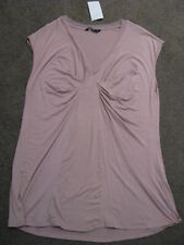BNWT LADIES ROSE RUFFLE VNECK SLEEVELESS TOP SIZE 18