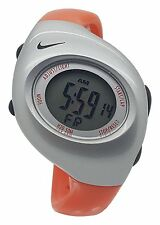 New Nike Kids Triax Junior WR0017 Orange and Silver Digital Sports 38mm Watch