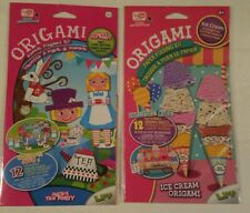 Origami Paper Folding Craft colorful playmat 12 sheets 2 Sets Alice & Icecream