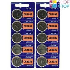 10 SONY CR2032 LITHIUM BATTERIES 3V COIN CELL DL2032 EXP 2028 NEW