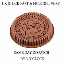 Vincenza Cake Silicone Muffin Pudding Giant COOKIE Cookies Bakeware Pan Mould UK