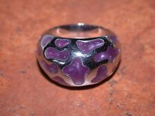 Stainless Steel Resin Ring, Size 9