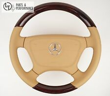 HOLZLENKRAD Beige Wurzelnuss für Mercedes-Benz C W202 CLK W208 SLK R170 SL R129