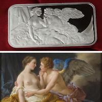 The God of Love Cupid / 1 Troy oz .999 Fine Silver Bar Bullion /   SB1H8