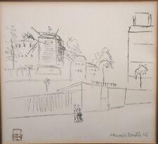 """Maurice Utrillo V -""""Moulin de la Galette -- Blute Fin"""" Sketch - Lithograph"""