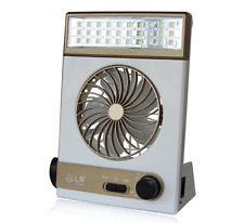 2-in-1 Solar Power/AC Rechageable Camping Cool Fan Light Tent LED Lantern Cooler