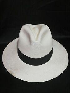 """GENUINE ECUADOR HAT""""PANAMA HAT""""  100% TOQUILLA STRAW  56,58, 60Cm Classic Fit"""