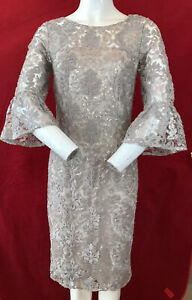 BNWT GINA BACCONI Lace Sequin Dress. Wedding Guest! UK 10. . RRP £320