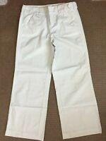 American Eagle pants 6 R white blue pinstripe Sailor classic rise NEW 32 x 29