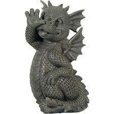 Süsser Gartendrache macht lange Nase Gartenfigur Drachen Figur Figuren Dragon