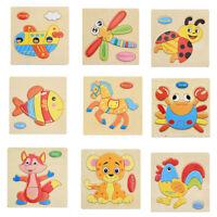 Eg _ Multicolore Puzzle en Bois Animal Éducatif Développemental Bébé Jouet