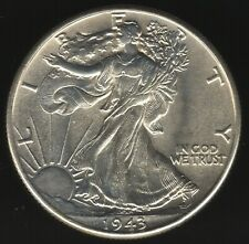 More details for 1943 u.s.a. silver walking liberty half dollar | world coins | pennies2pounds