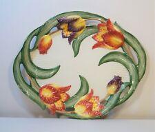 "New ListingVintage 1995 Fitz & Floyd Tulip Swan Oval Serving Platter 16-1/2"" Discontinued"