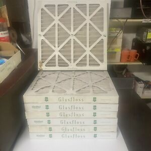 Lot of 7 Glasfloss 20x20x2 MERV 10 Pleated  Air Furnace Filter Made in USA (B)