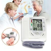 LCD Digital Wrist Arm Blood Pressure Monitor Measure Heart Rate Pulse Meter