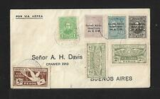 1930 PARAGUAY TO ARGENTINA AIR MAIL COVER, FANTASTIC FRANKING