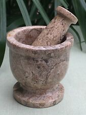 Coral Mortar And Pestle Spice Herb Salt   Pepper Grinder Fossil Mortar & Pestle.