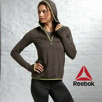 Reebok One Series Jaquard Womens Workout Hooded Jacket Ladies Free Tracked Post