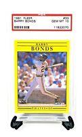 1991 Fleer Pirates HR King BARRY BONDS Baseball Card PSA 10 GEM MINT / Pop 34!