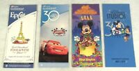 Disney World Guide Map Lot 4 Kingdom Halloween EPCOT Food Wine Studios 30th