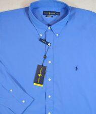 Ralph Lauren Shirt Performance Button-Front Blue Aerial 4XB 4XL 4X NWT $110