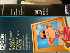 Epson Photo Paper, Glossy Finish, Size 11 x 17 Inches, 20 Sheets
