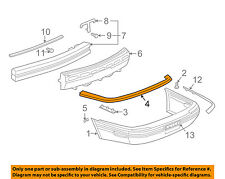Buick GM OEM 97-05 Park Avenue Rear Bumper-Retainer Bracket 25663140