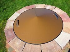 """Round Metal Gas-Wood Fire Pit Campfire Ring Cover 42"""" diameter."""