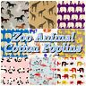 100% Cotton Poplin/Poly Cotton Baby Zoo Animal Elephant Flamingo Fabric Material