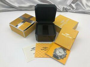 Genuine Breitling Empty Watch Box Case Booklet Authentic Black 210329003 P127