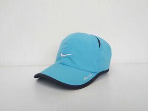 NIKE FEATHERLIGHT DRI-FIT Blue Cap Hat White Logo Size for Women's