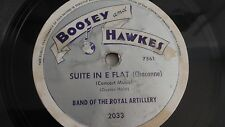 Band Of The Royal Artillery - 78rpm single 10-inch – Boosey & Hawkes #2033