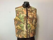 Tough Duck Advantage Sz M Timber Mossy Oak Camo Vest Reversible Orange