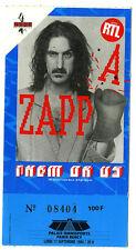 FRANK ZAPPA ticket bercy paris 1984