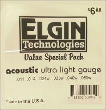 Elgin Ultra Light Guage Bronze Guitar Strings