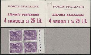 1959-60 Italia Poste Italiane Lire 25 MNH Sass Libretto n. 11/I